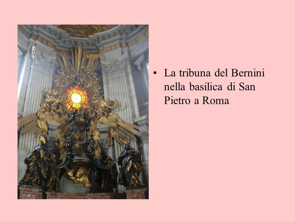 La tribuna del Bernini nella basilica di San Pietro a Roma