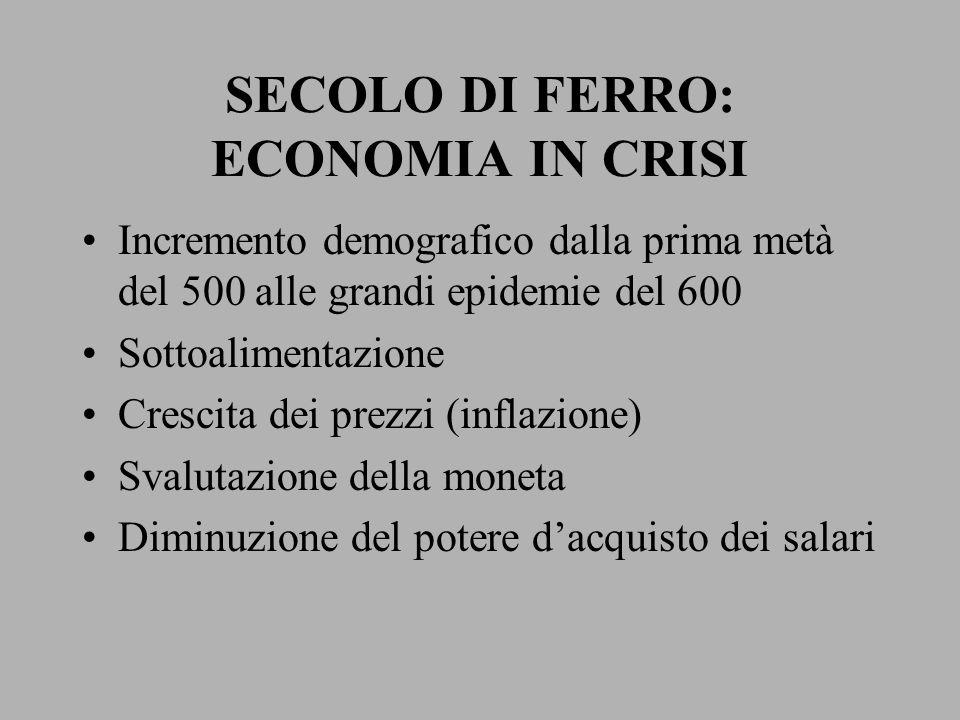 SECOLO DI FERRO: ECONOMIA IN CRISI