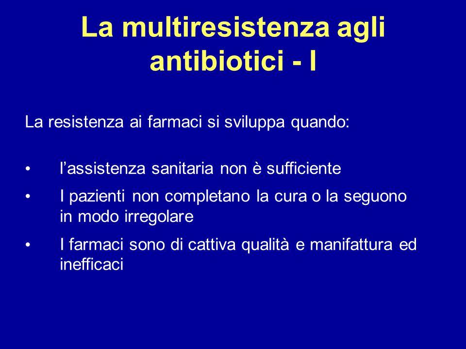La multiresistenza agli antibiotici - I