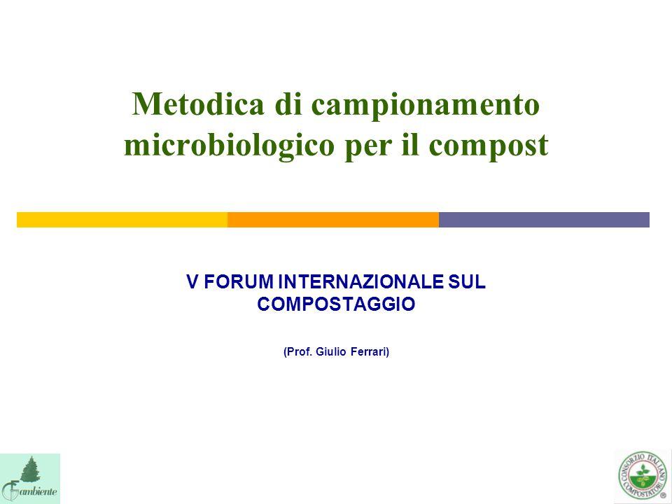 Metodica di campionamento microbiologico per il compost