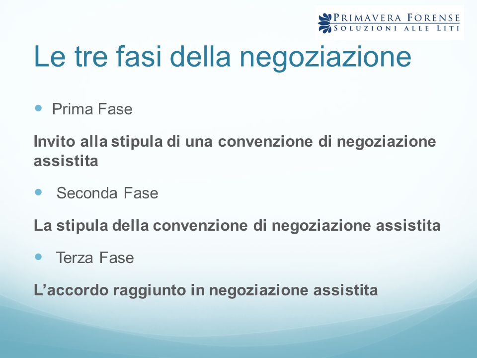 Le tre fasi della negoziazione