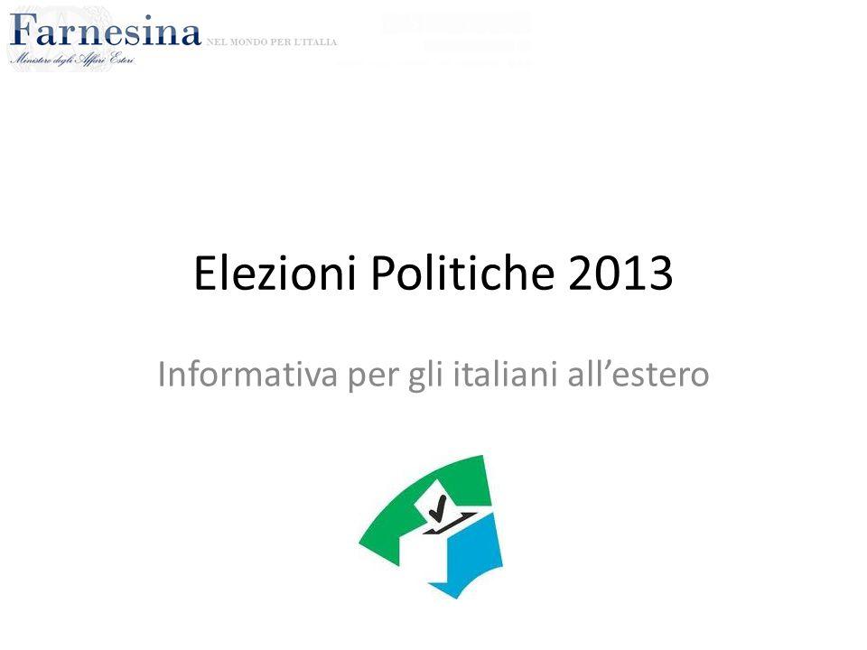 Informativa per gli italiani all'estero