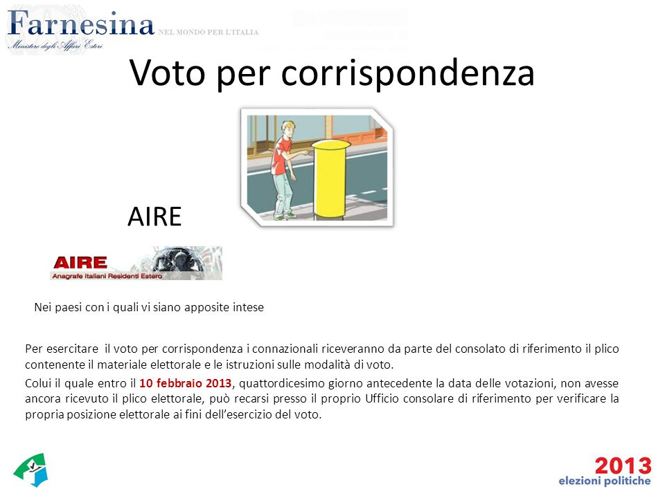 Voto per corrispondenza