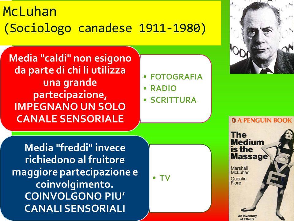 McLuhan (Sociologo canadese 1911-1980)
