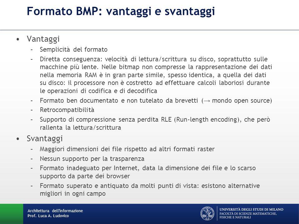 Formato BMP: vantaggi e svantaggi