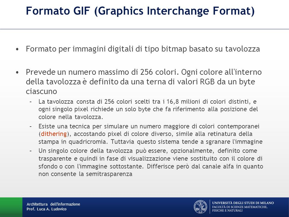 Formato GIF (Graphics Interchange Format)