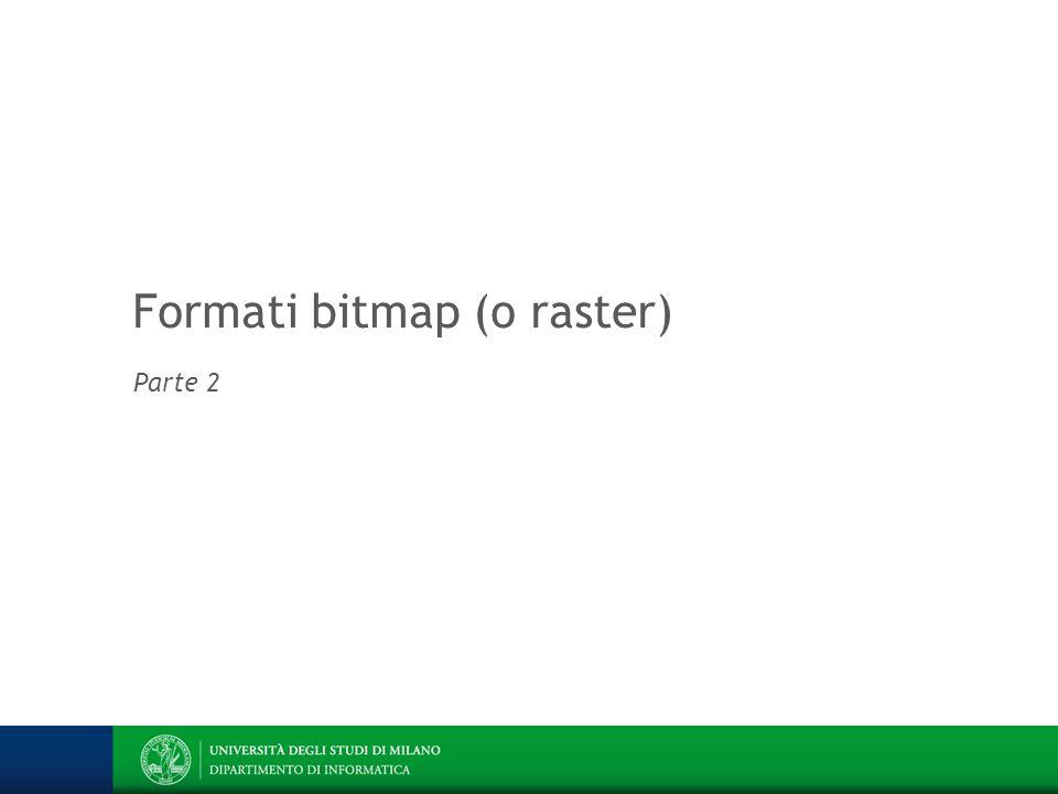 Formati bitmap (o raster)