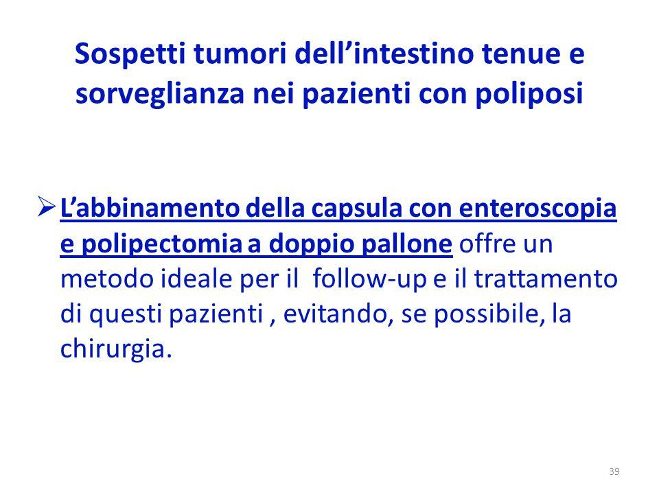 Sospetti tumori dell'intestino tenue e sorveglianza nei pazienti con poliposi