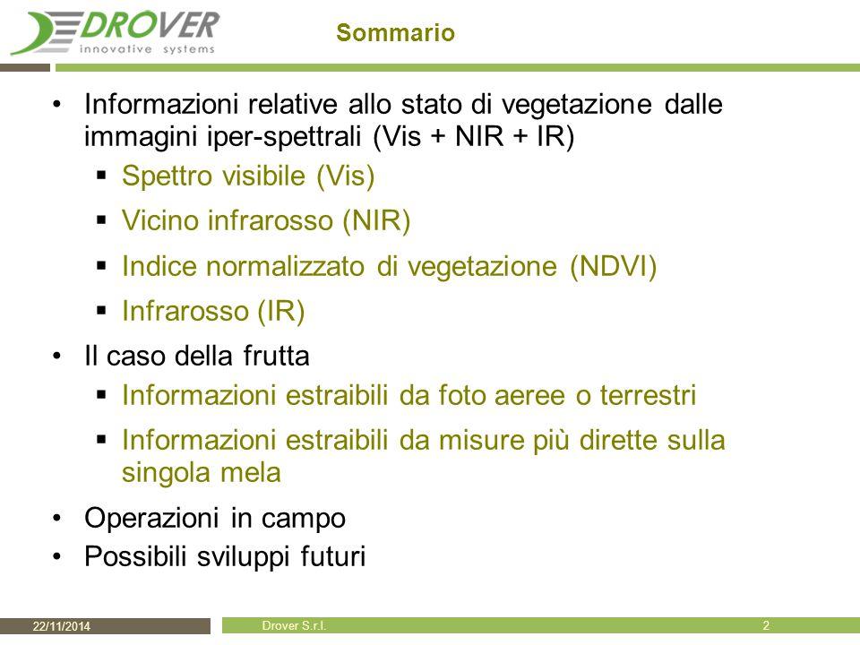 Spettro visibile (Vis) Vicino infrarosso (NIR)