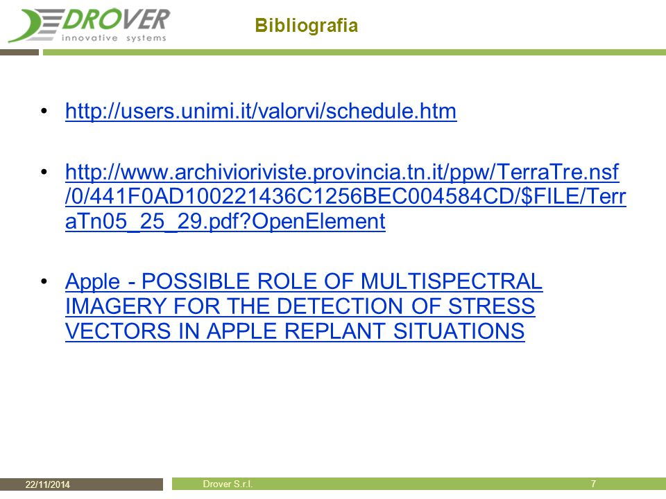 Bibliografia http://users.unimi.it/valorvi/schedule.htm.