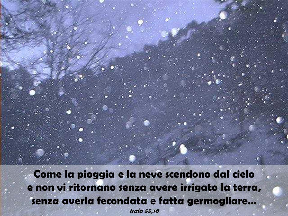 Come la pioggia e la neve scendono dal cielo