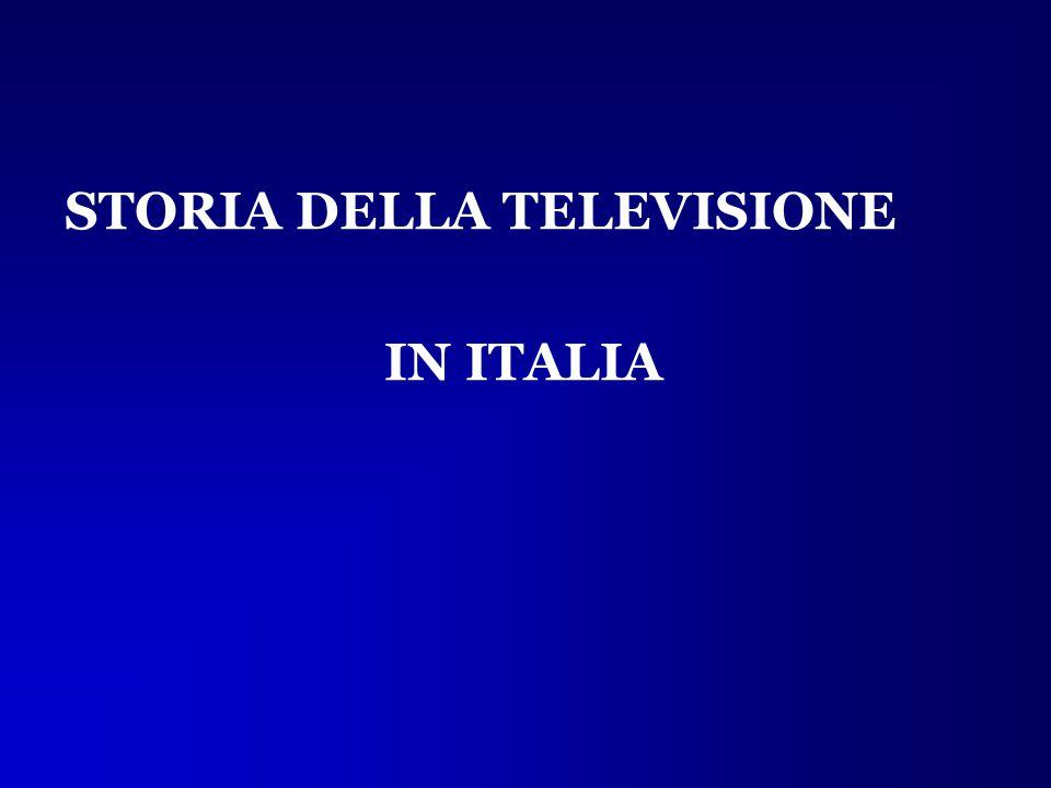 STORIA DELLA TELEVISIONE