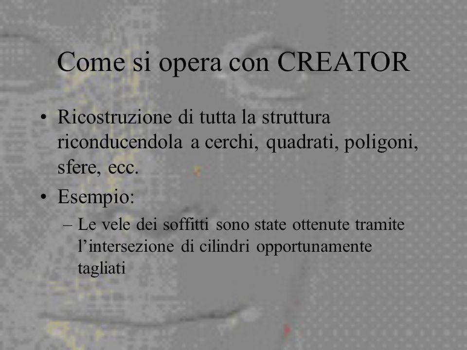 Come si opera con CREATOR