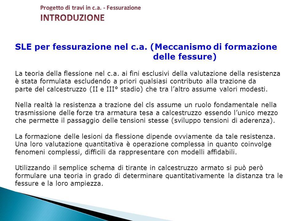 INTRODUZIONE SLE per fessurazione nel c.a. (Meccanismo di formazione