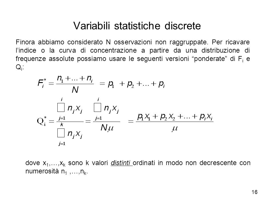 Variabili statistiche discrete