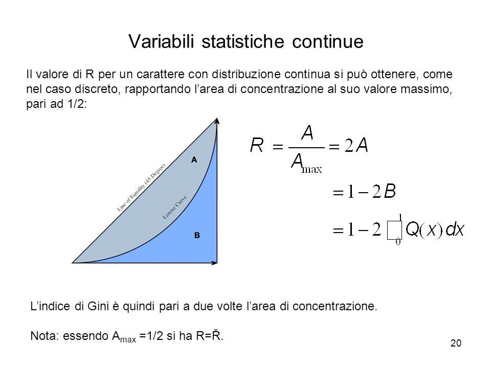 Variabili statistiche continue