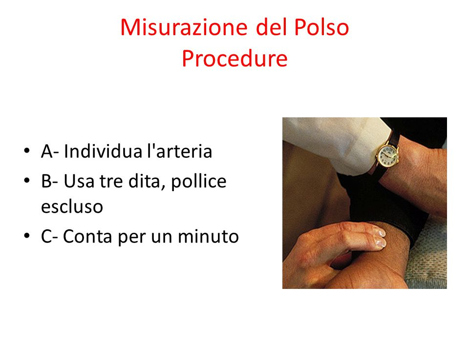 Misurazione del Polso Procedure
