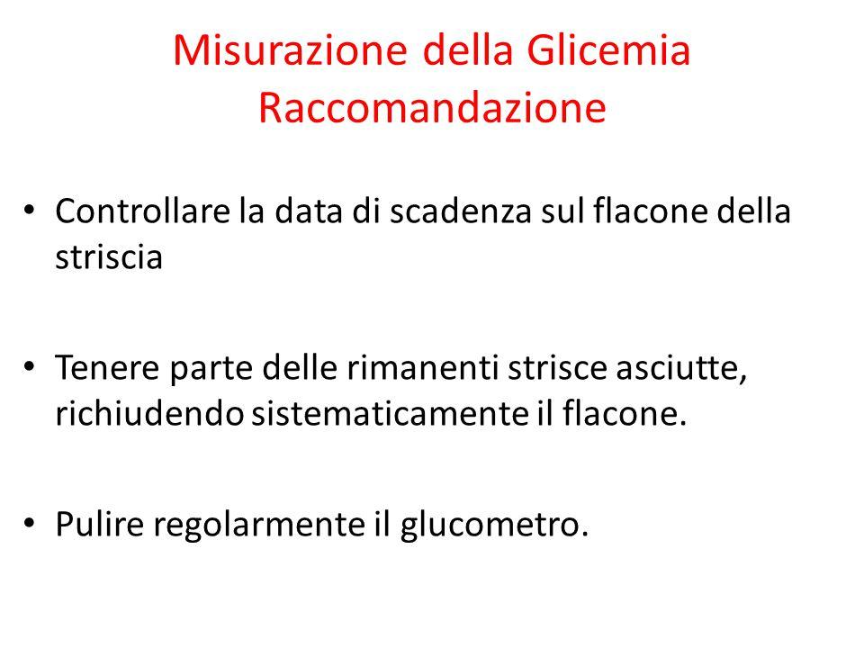 Misurazione della Glicemia Raccomandazione