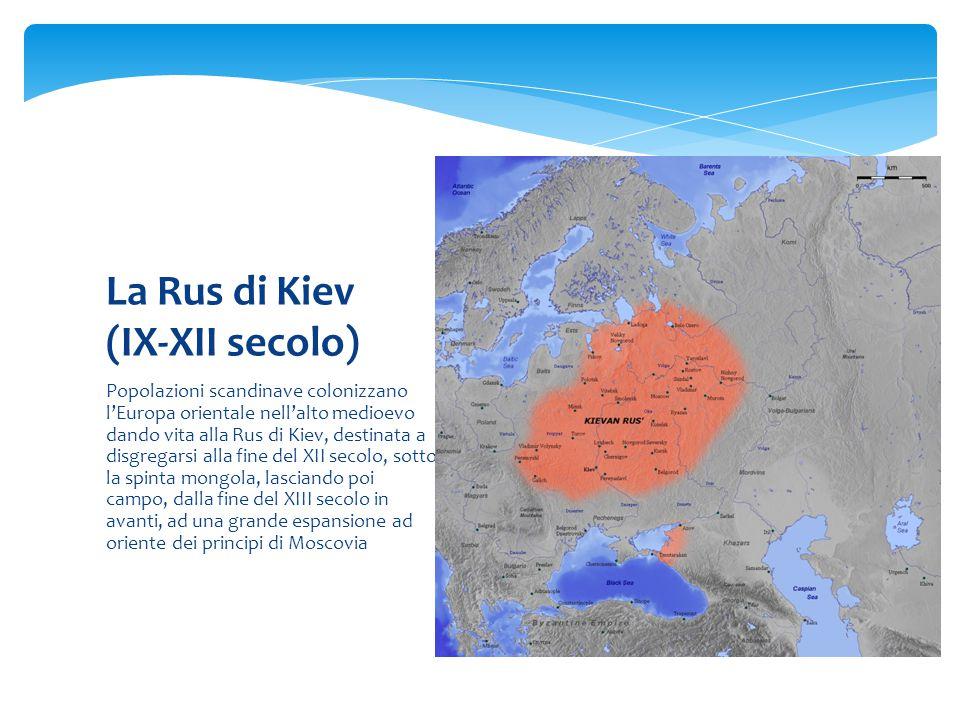La Rus di Kiev (IX-XII secolo)