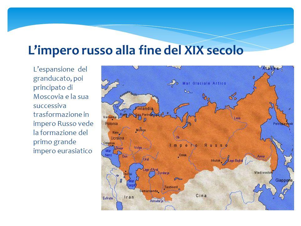 L'impero russo alla fine del XIX secolo