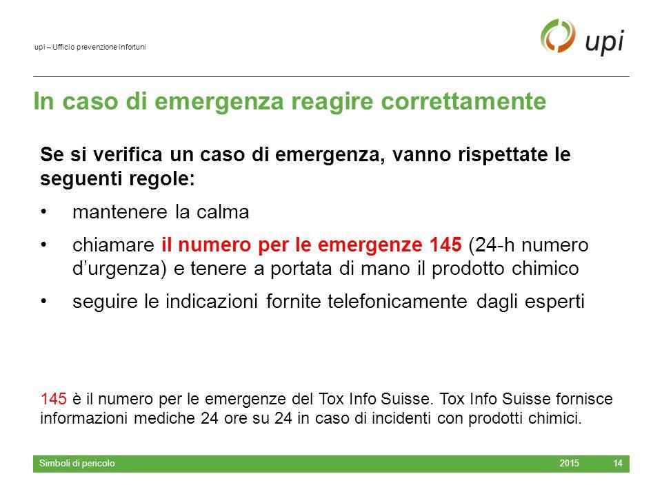 In caso di emergenza reagire correttamente