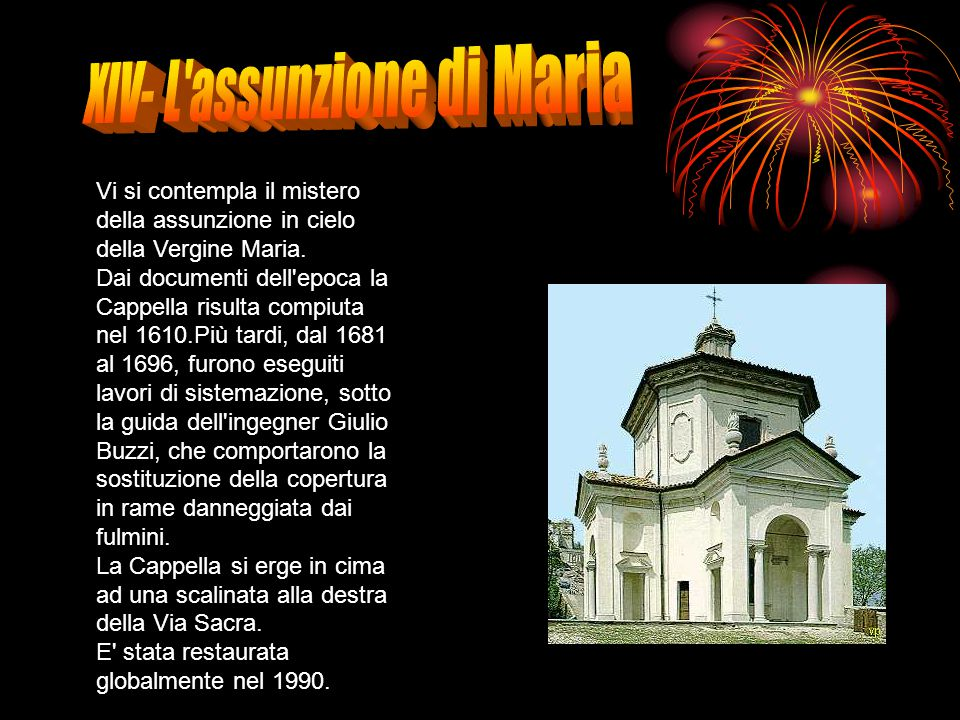 XIV- L assunzione di Maria