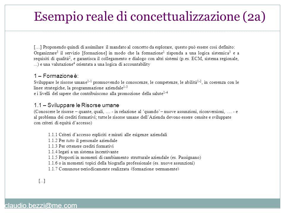 Esempio reale di concettualizzazione (2a)