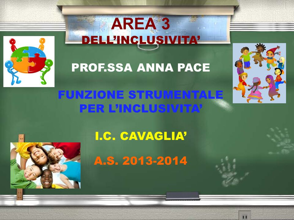 AREA 3 DELL'INCLUSIVITA' PROF.SSA ANNA PACE FUNZIONE STRUMENTALE