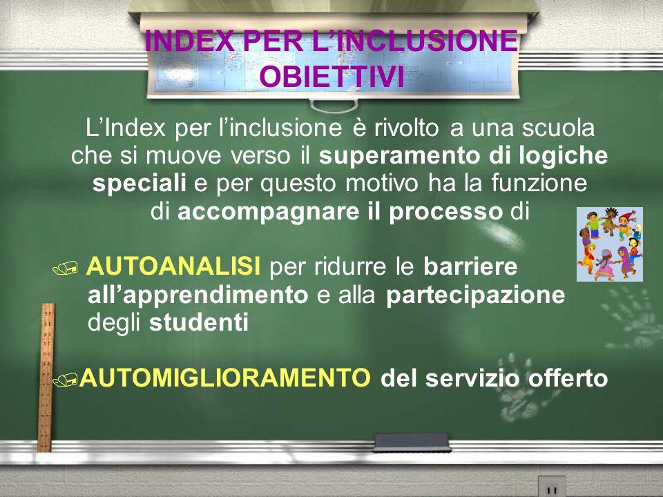 INDEX PER L'INCLUSIONE OBIETTIVI