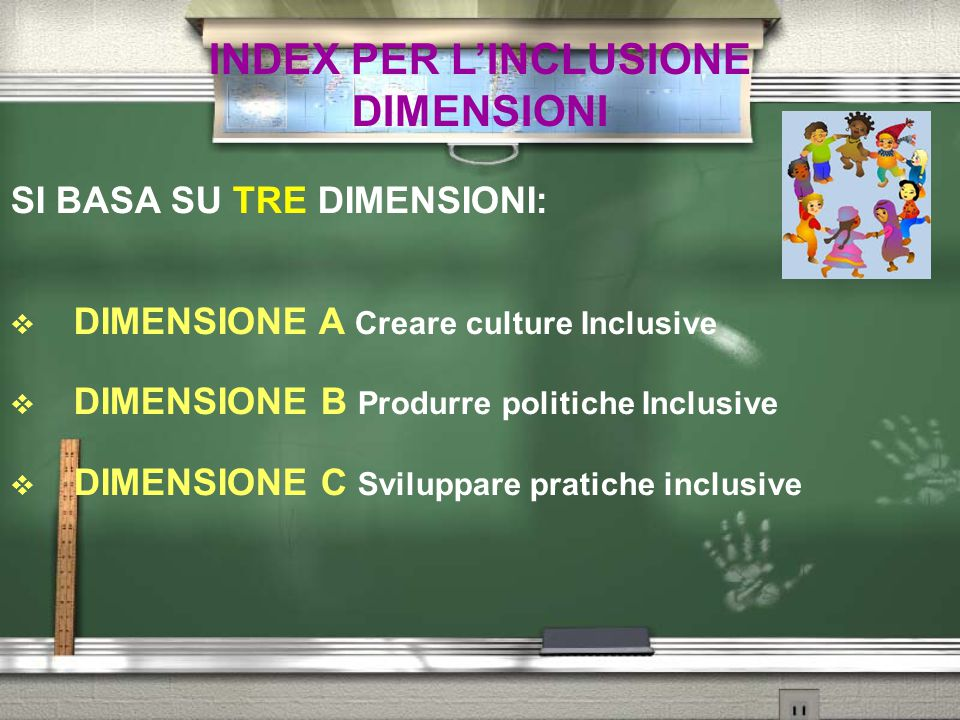 INDEX PER L'INCLUSIONE DIMENSIONI