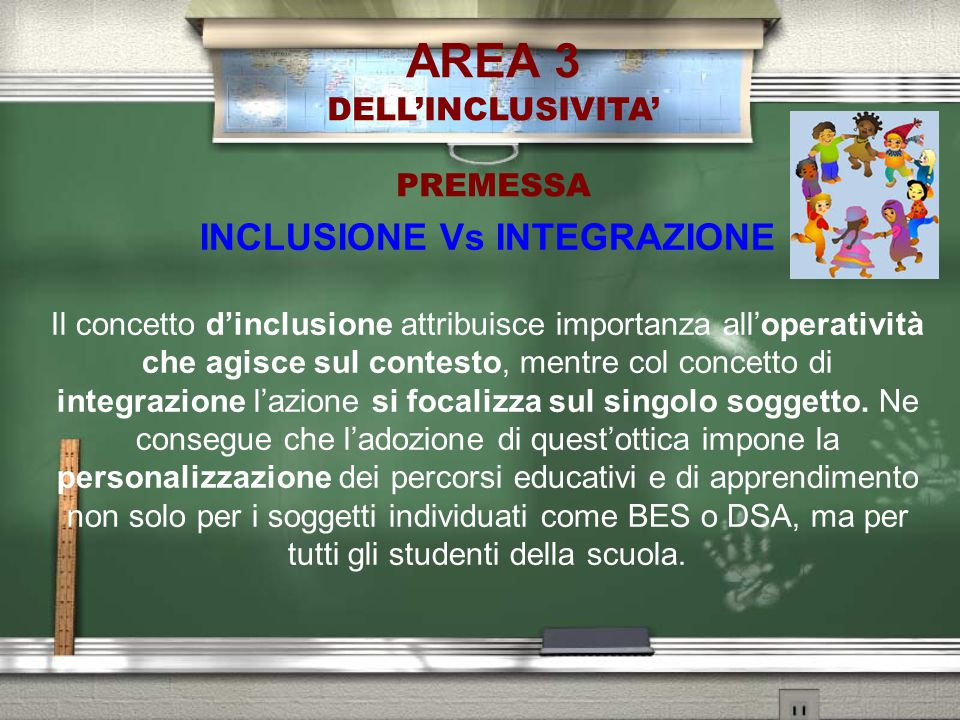 INCLUSIONE Vs INTEGRAZIONE
