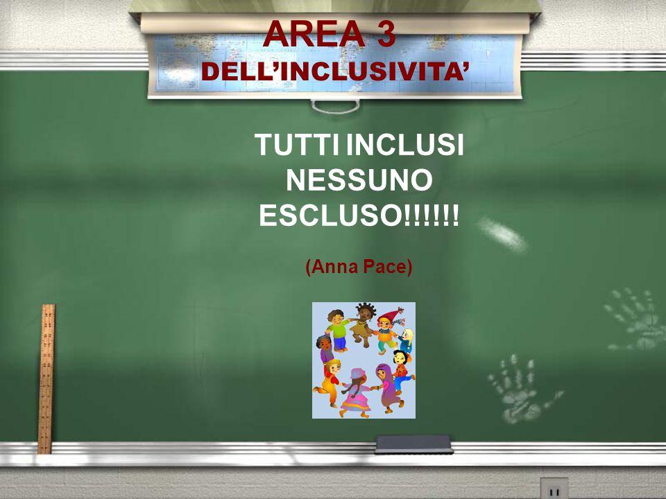 AREA 3 TUTTI INCLUSI NESSUNO ESCLUSO!!!!!! DELL'INCLUSIVITA'