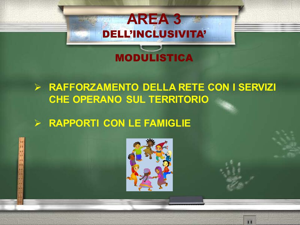 AREA 3 DELL'INCLUSIVITA' MODULISTICA