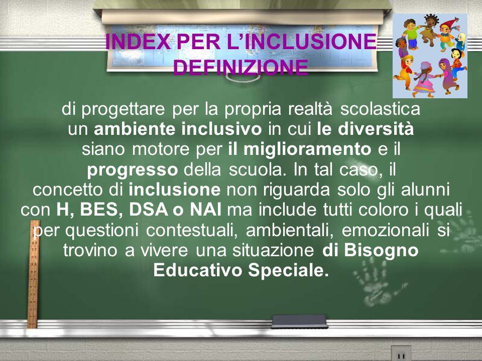 INDEX PER L'INCLUSIONE DEFINIZIONE