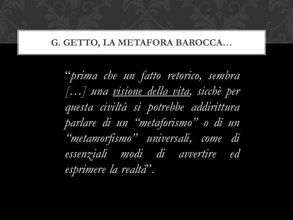 G. Getto, la metafora barocca…
