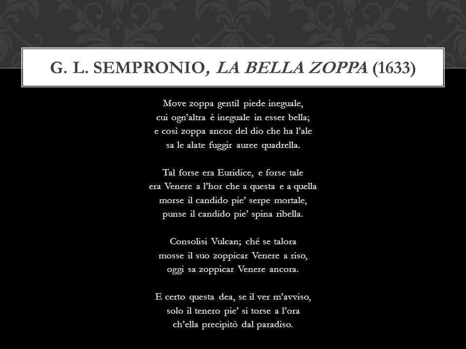 G. L. Sempronio, La bella zoppa (1633)