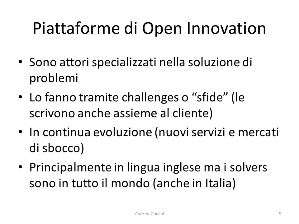 Piattaforme di Open Innovation