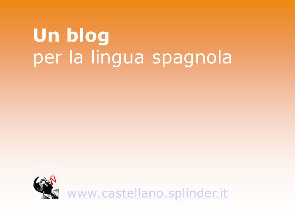 Un blog per la lingua spagnola