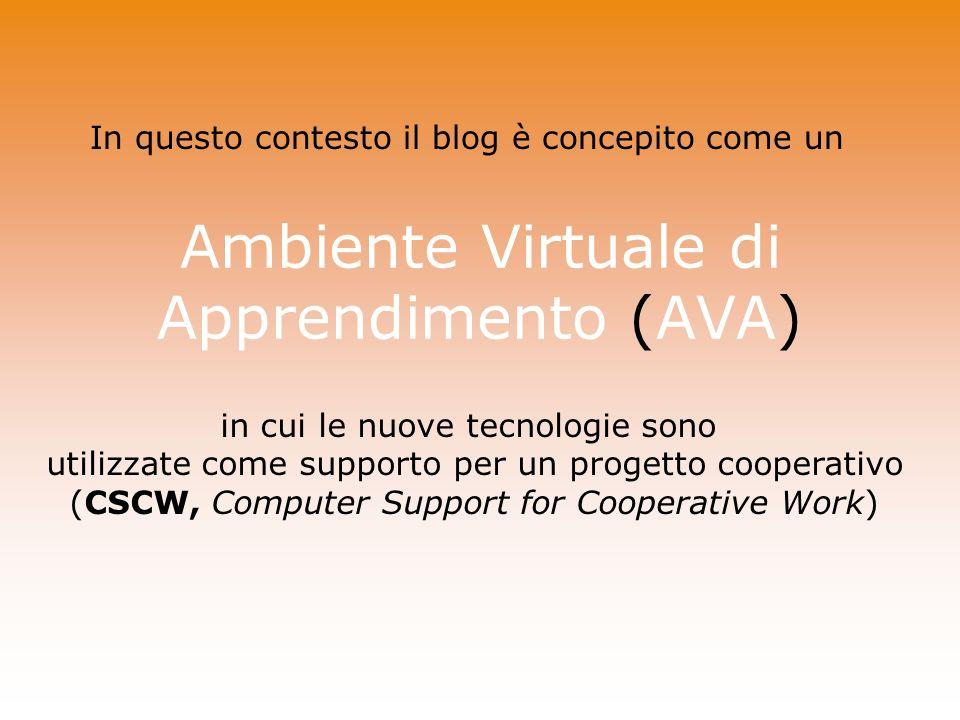 Ambiente Virtuale di Apprendimento (AVA)