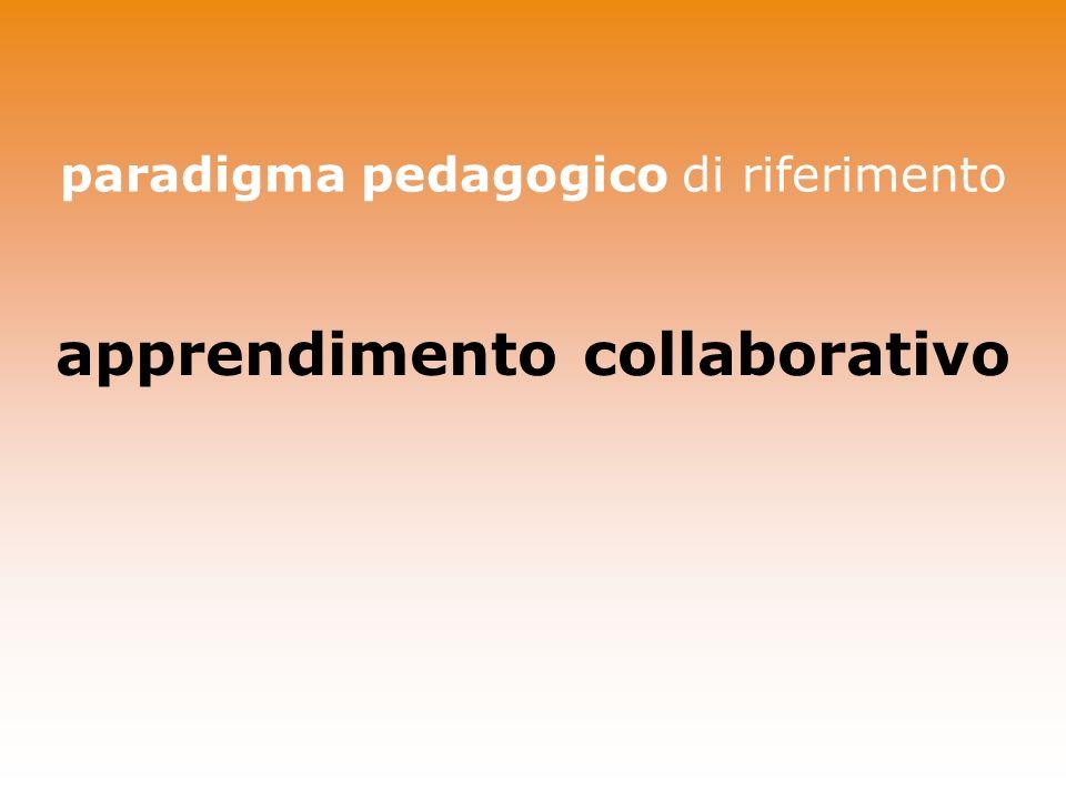 paradigma pedagogico di riferimento