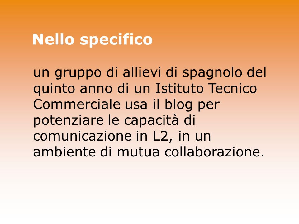 Nello specifico