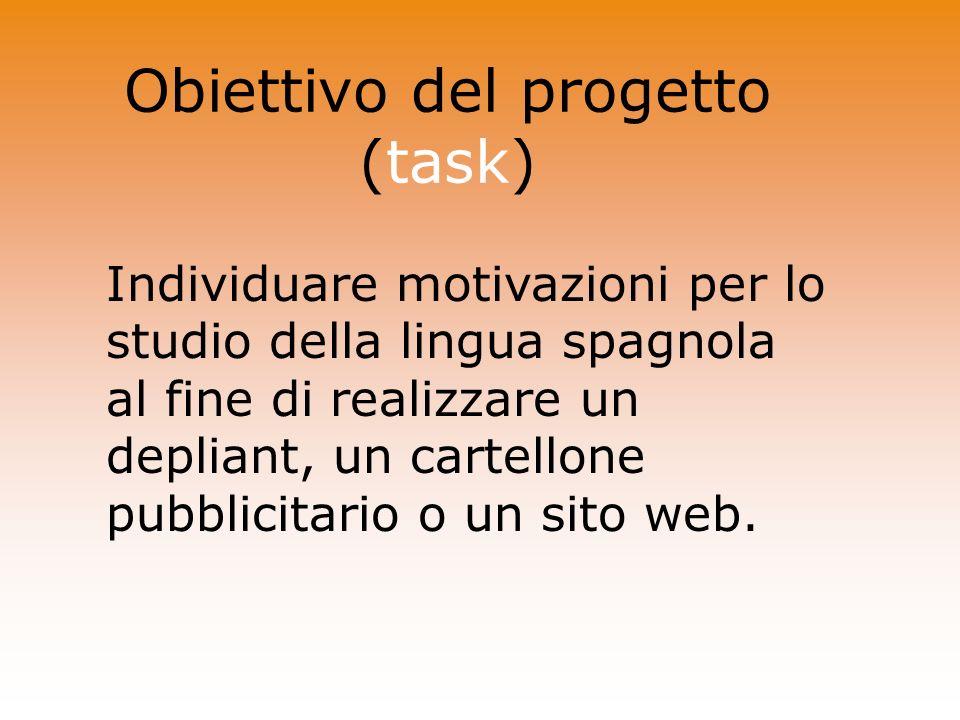 Obiettivo del progetto (task)