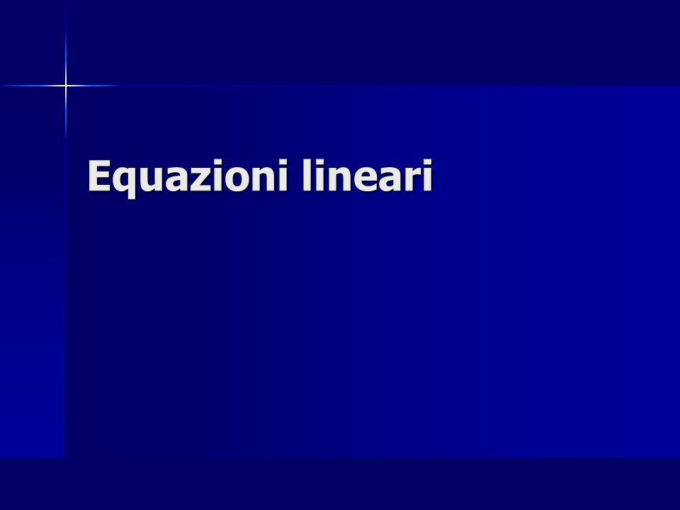 Equazioni lineari