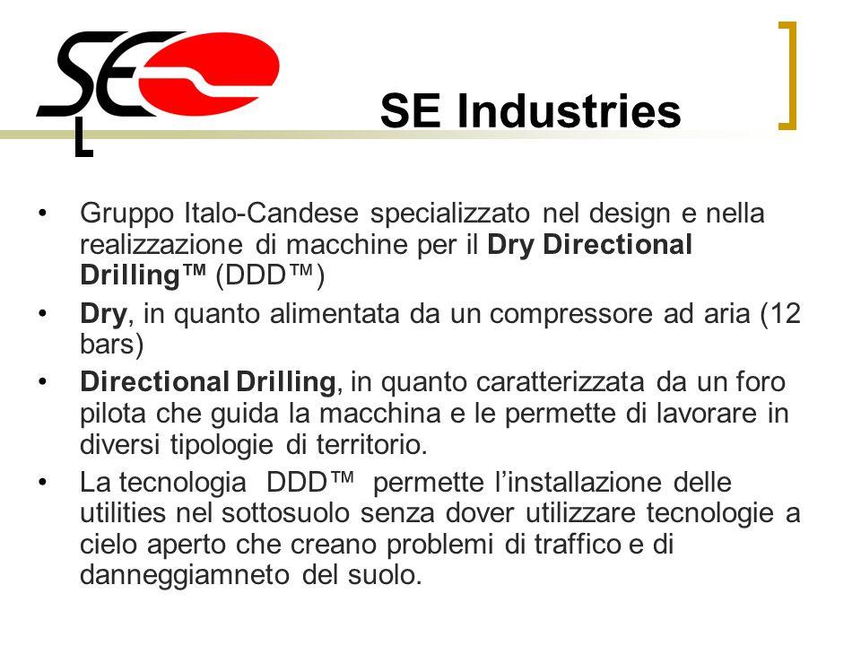 SE Industries Gruppo Italo-Candese specializzato nel design e nella realizzazione di macchine per il Dry Directional Drilling™ (DDD™)