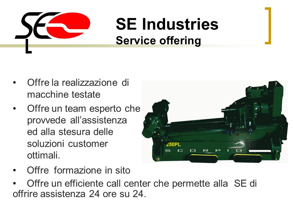 SE Industries Service offering