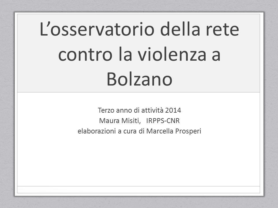 L'osservatorio della rete contro la violenza a Bolzano