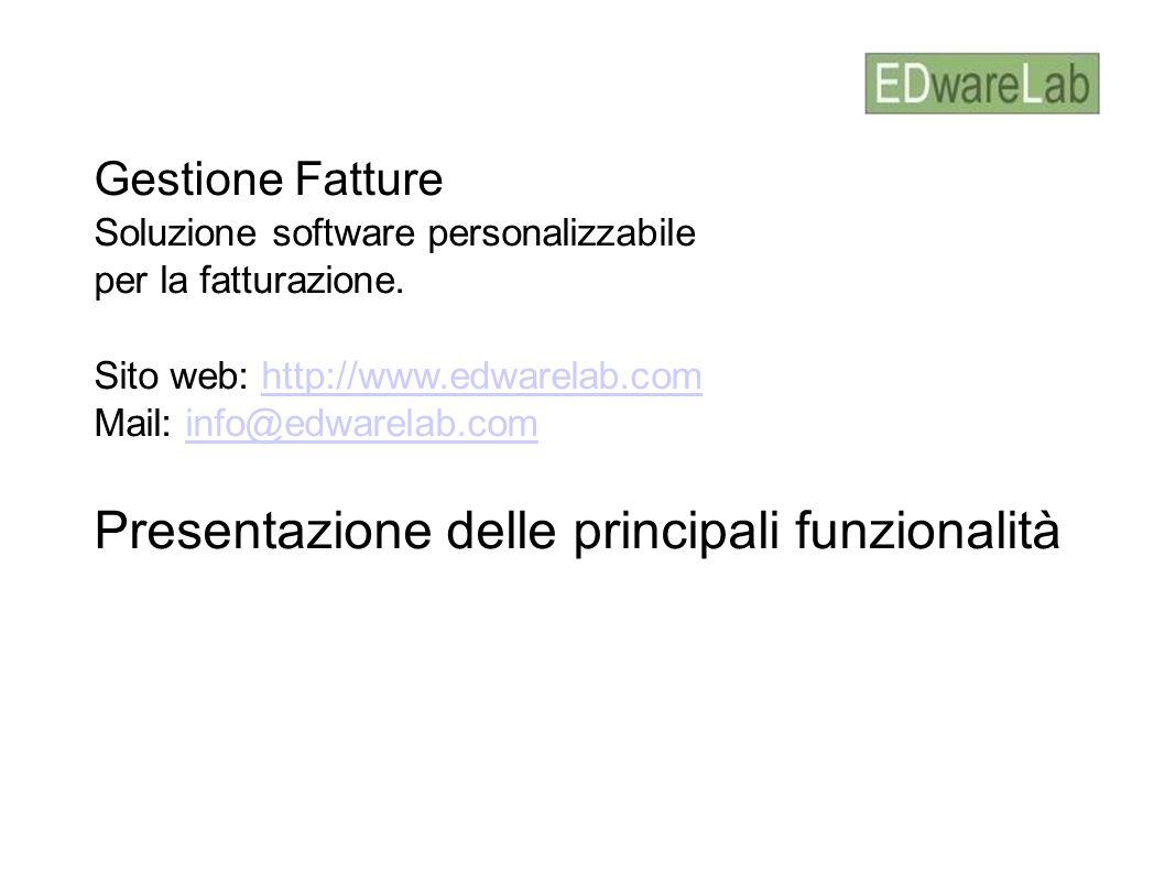 Presentazione delle principali funzionalità
