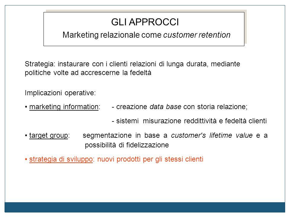 Marketing relazionale come customer retention