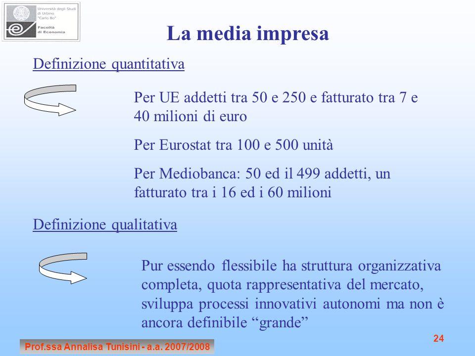 Prof.ssa Annalisa Tunisini - a.a. 2007/2008