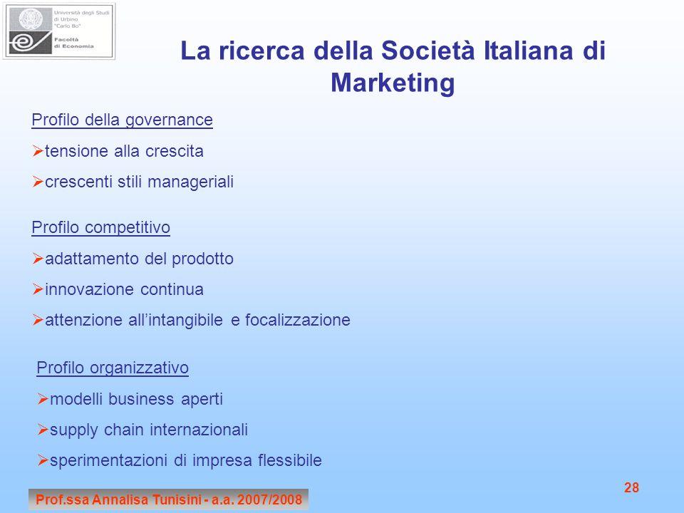 La ricerca della Società Italiana di Marketing